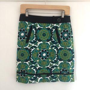 Ann Taylor Retro Mod Floral Skirt